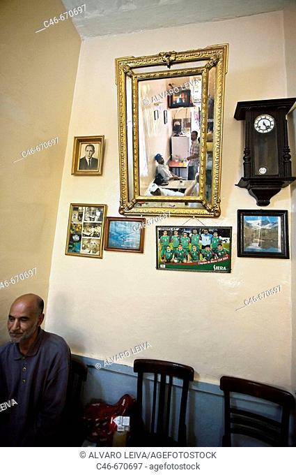 Cafe, The medina. Tangier. Morocco