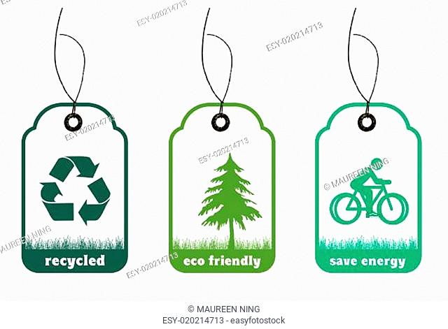 Ecology and recycle tags for environmental design
