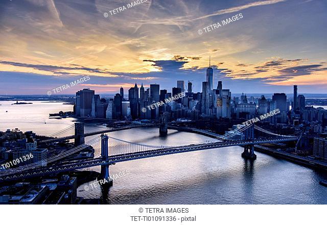 View of Manhattan at dusk