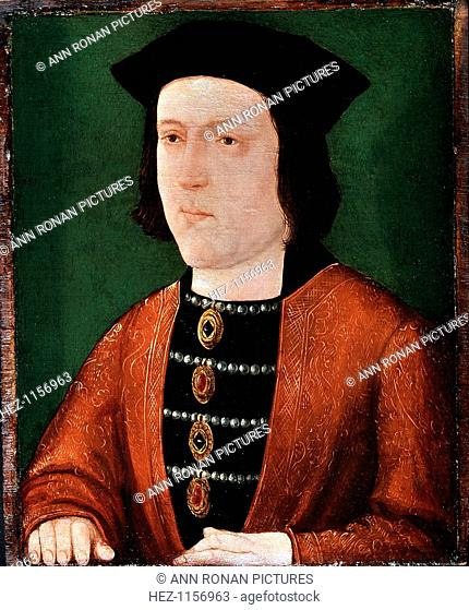 Edward IV, 15th century King of England, c1540. A Plantagenet of the Yorkist line, Edward (1442-1483) came to the throne in 1461