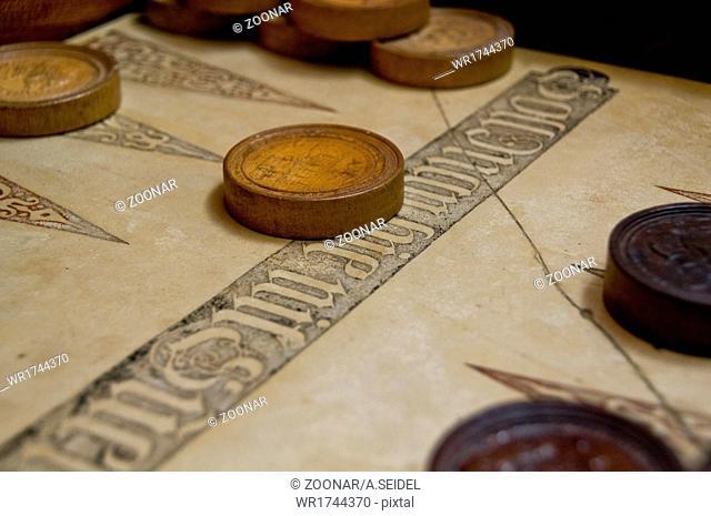 antique backgammon