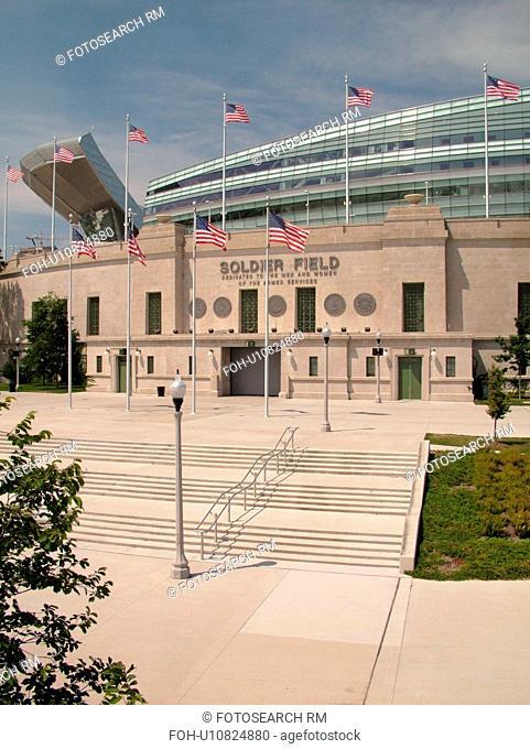 Chicago, IL, Illinois, Windy City, Burnham Park, Soldier Field, NFL, Football, Chicago Bears