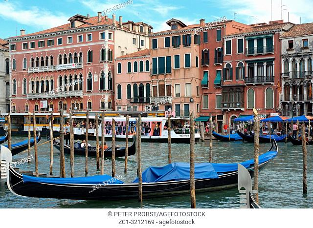 View at the Grand Canal of Venice in Italy