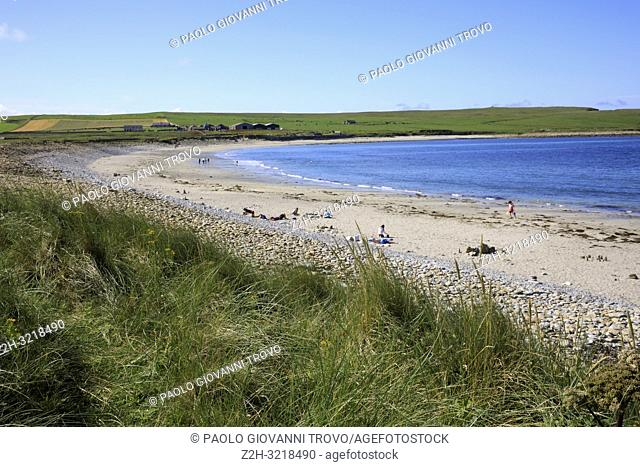 Skara Brae beach, Orkney, Scotland, Highlands, United Kingdom