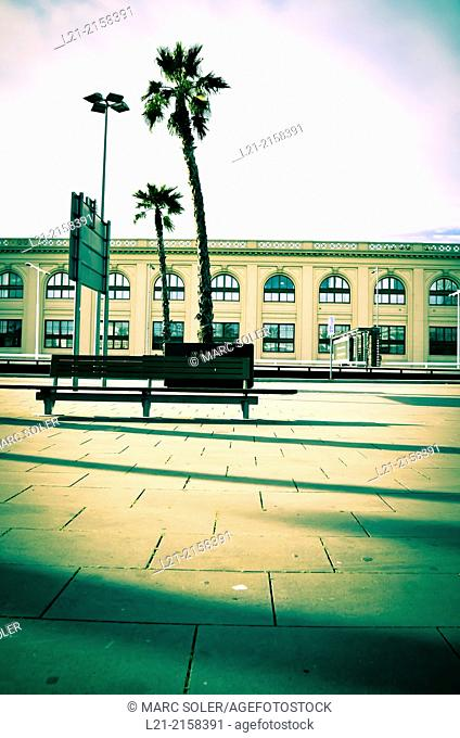 Post office building. Ronda Litoral, Barcelona, Catalonia, Spain