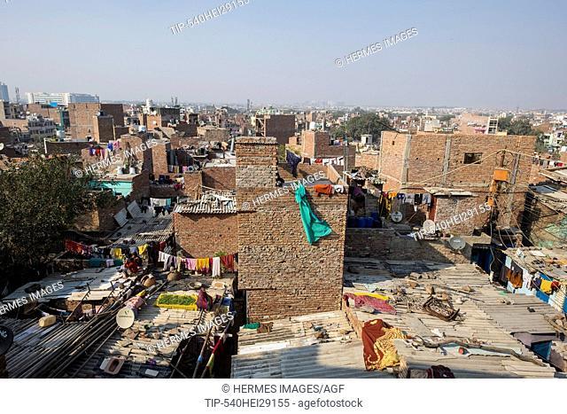 India, New Delhi, Baljeet Nagar Slum