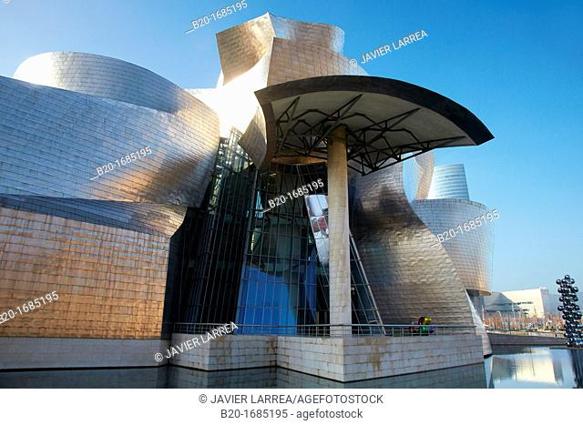 Guggenheim Museum, Abandoibarra, Bilbao, Bizkaia, Basque Country, Spain