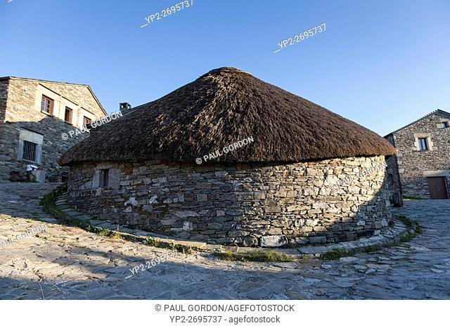 O Cebreiro, Spain: Traditional palloza typical to the Serra dos Ancares region of Galicia. Originally intended to shelter livestock