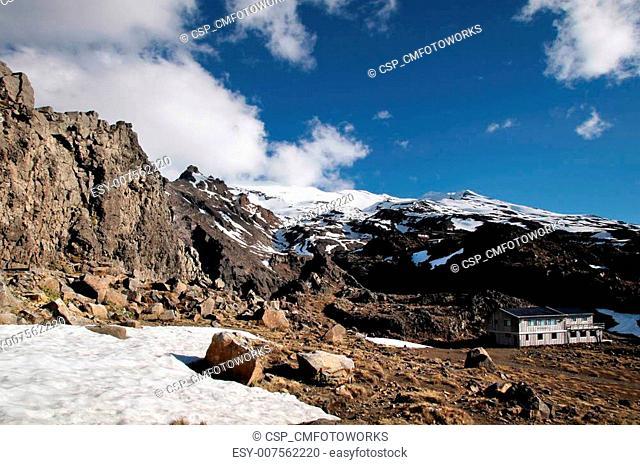 Skiing region at Mount Ruapehu
