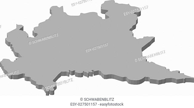 Map region lombardy Stock Photos and Images | age fotostock