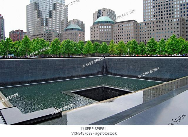 USA, New York, 05.25.2016 The southern basin of the National September 11 Memorial & Museum - New York,USA, 25/05/2016