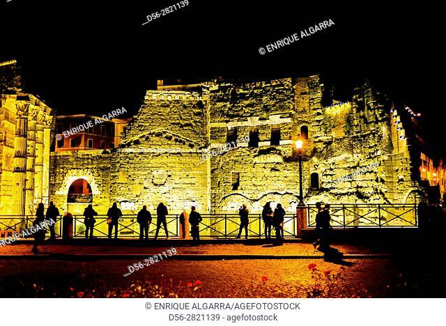 Roman Forum by night, Rome