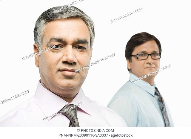 Portrait of two businessmen