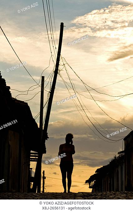 cuba, trinidad, sunset