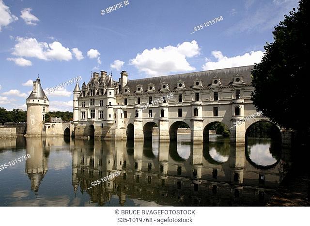 Château de Chenonceau on the Cher River, Indre-et-Loire, France