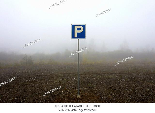 empty parking area, Finland