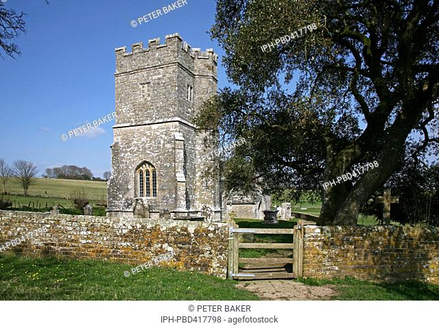 Ancient church in the picturesque village of Whitcombe near Dorchester