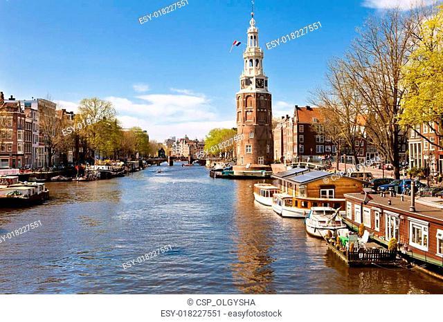 City landscape of Amsterdam, Netherlands