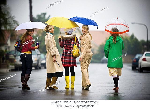 A rainy day portrait session