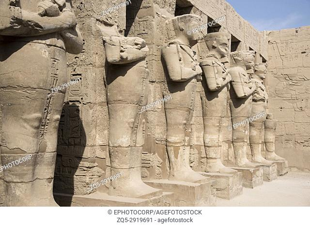 Beautifully carved idols in Ramses 3 temple, Situated near Karnak Temple, Karnak, Luxor, Egypt