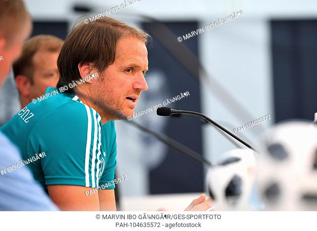 Assistant coach Thomas Schneider (DFB). GES / Football / Preparing for the 2018 World Cup: Press conference of the German national team in South Tyrol, 30