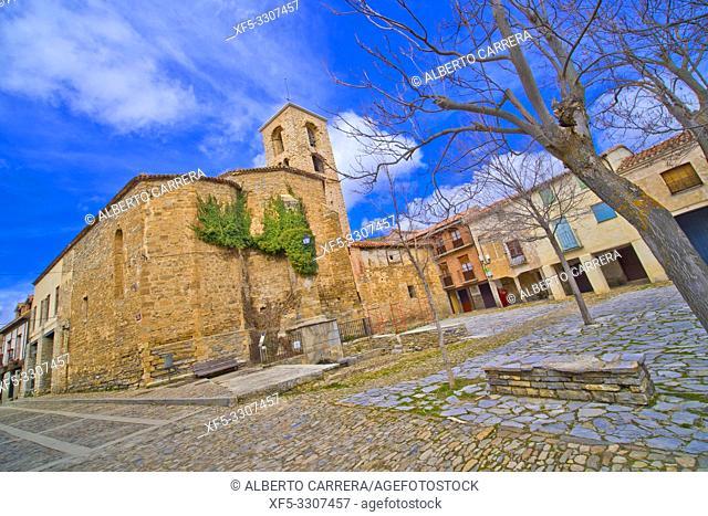 Church of San Lorenzo,16th Gothic Style, Yanguas, Soria, Castilla y León, Spain, Europe