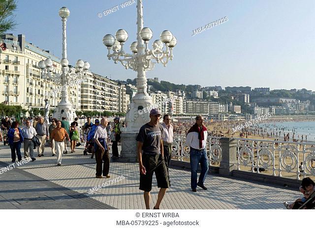 Seafront, Donostia-San Sebastián, Gipuzkoa, the Basque Provinces, Spain