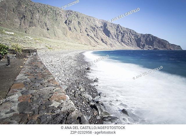 Atlantic ocean in Las Playas South of El Hierro island Canary islands Spain