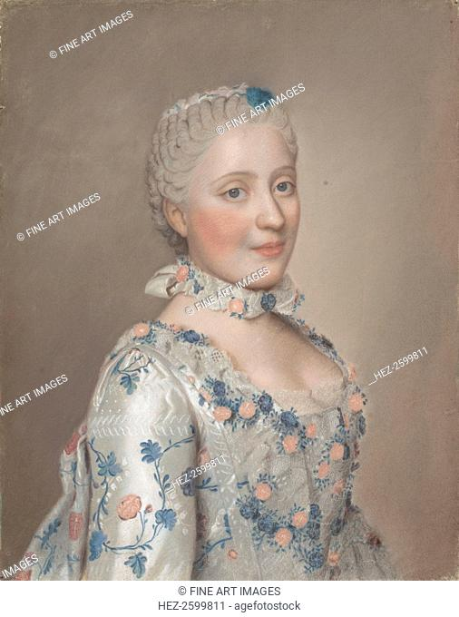 Portrait of Princess Maria Josepha of Saxony (1731?1767), 1749. Found in the collection of the Rijksmuseum, Amsterdam