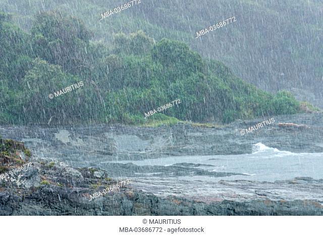 intense rain, coast of South Africa