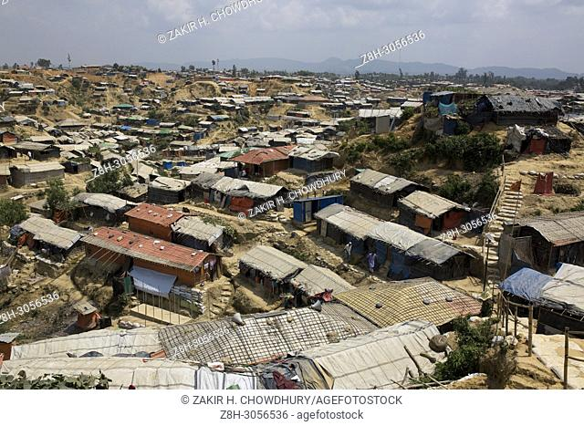 COX'S BAZAR, BANGLADESH - MAY 18 : Rohingya refugee leads life inside refugee camp in Cox's Bazar , Bangladesh on May 18, 2018.