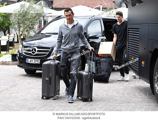 Miroslav Klose (DFB coach team) arrives at the Hotel Weinegg. Arrival at Hotel Winnegg Girlan / Appiano. GES / football / preparation for the 2018 World Cup