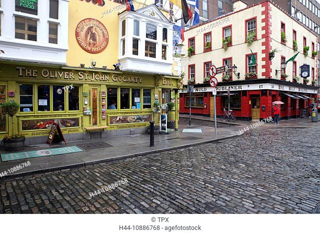 Republic of Ireland, Dublin, Pubs in Temple Bar Area
