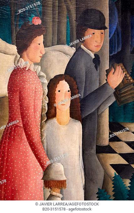 """""""""""""""A Wedding"""""""", c.1919-1923, Olga Sacharoff, National Museum of Catalan Art, Museu Nacional d Art de Catalunya, MNAC, Barcelona, Spain, Europe"""