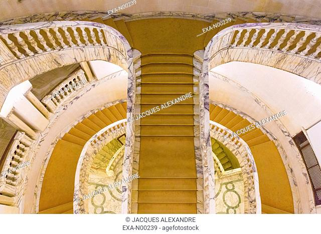 Winding straircases in the Royal Palace, Bucharest, Romania, Europe