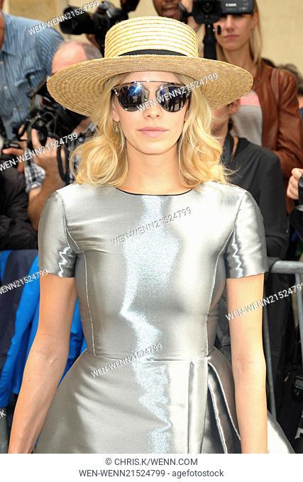 Paris Fashion Week Haute Couture Fall/Winter 2014-2015 - Dior - Outside Arrivals Featuring: Elena Perminova Where: Paris, France When: 07 Jul 2014 Credit: Chris