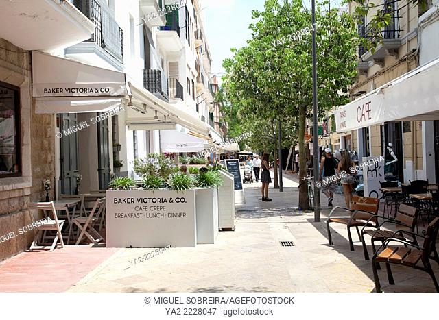 Baker Victoria & Co. Cafe on Carrer Cayetano Soler in Ibiza Town - Spain