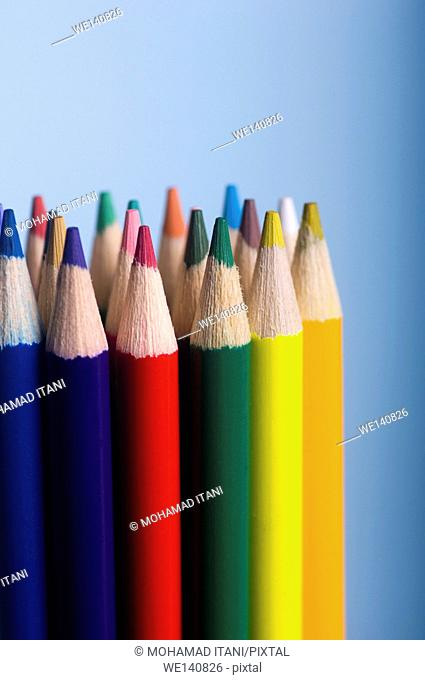 Stack of Coloured pencils
