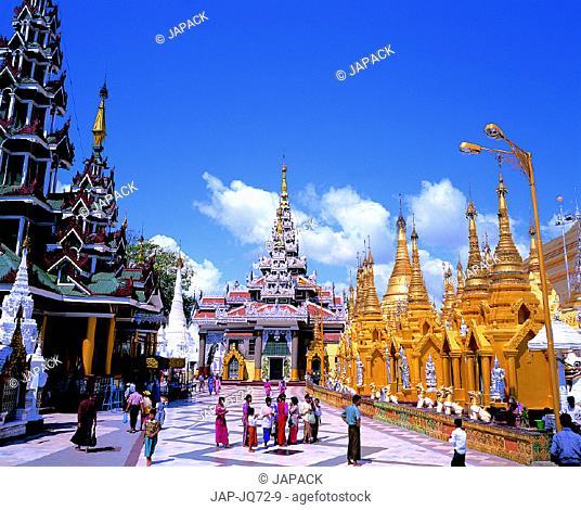 Shedagon Pagoda, Rangon, Myanmar