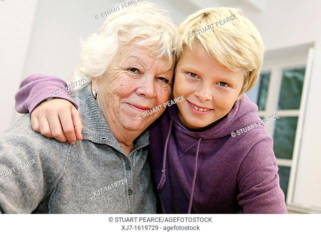 Senior woman with grandson