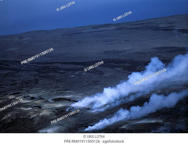 Smoke, Lava, Big Island, Hawaii, USA