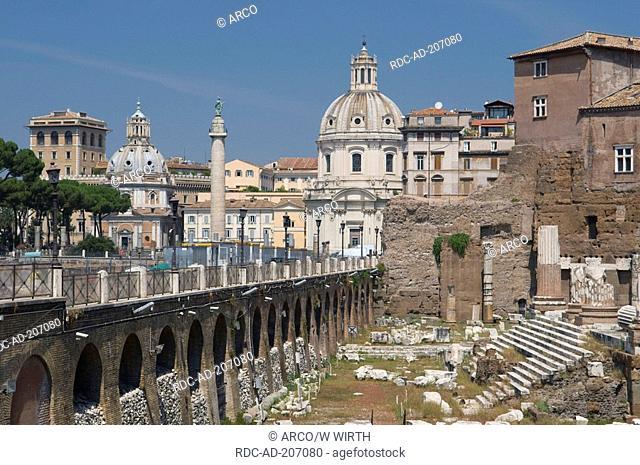 Imperial fora, church Santa Maria Di Loreto, church Santissimo Nome Di Maria, Rome, Lazio, Italy, Santissimo Nome di Maria al Foro Traiano