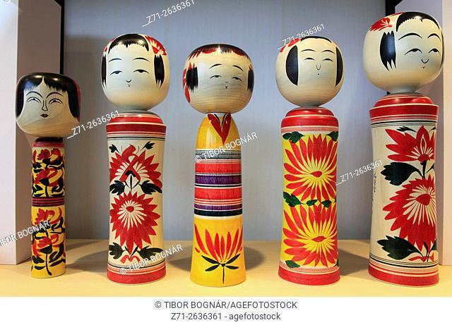 Japan, Tokyo, dolls, painted figures,