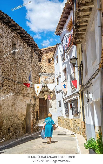 Street. Cañete, Cuenca province, Castilla La Mancha, Spain