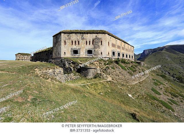 Fort Central on Tenda Pass, Tende, Département Alpes-Maritimes, Region Provence-Alpes-Côte d'Azur, France