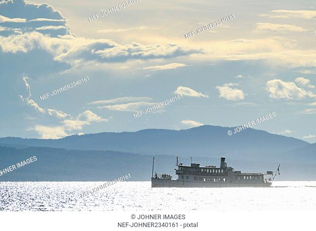 Ferry on sea
