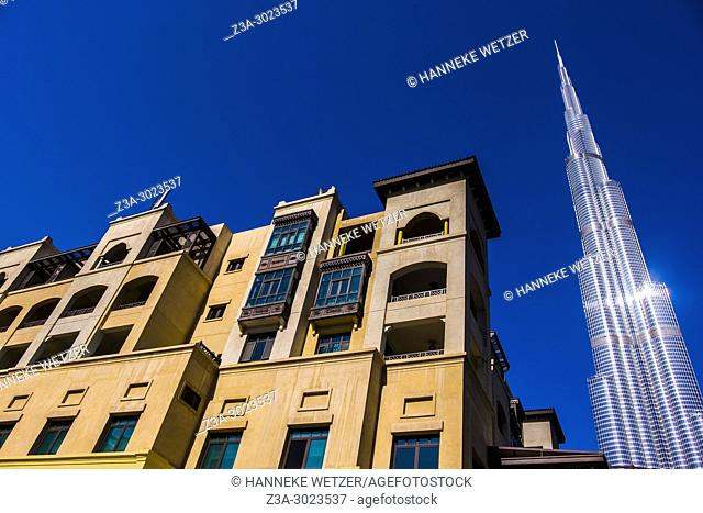 The Burj Khalifa and Souk Al Bahar in Dubai