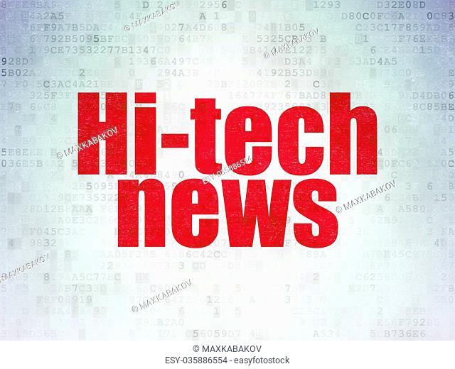 News concept: Hi-tech News on Digital Data Paper background