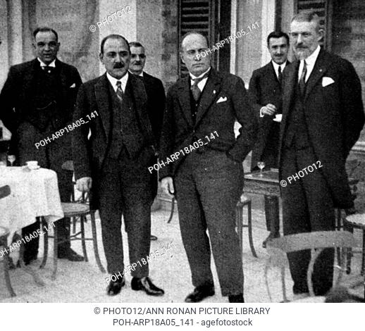 Rome - S.E. Mussolini and the Foreign Minister of Bulgaria World History Archive