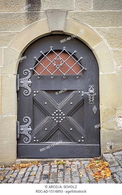 historic portal, schwaebisch hall, hohenlohe region, baden-wuerttemberg, heilbronn-franconia, germany